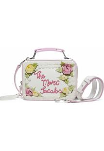 Marc Jacobs Bolsa Transversal The Box Cake - Branco