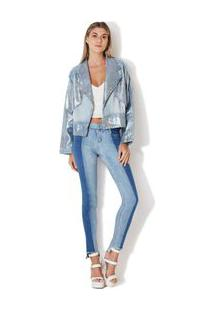 Jaqueta Premium Jeans Holografica Jeans