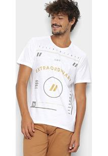 Camiseta Kohmar Flame Extraordinary Masculina - Masculino-Off White