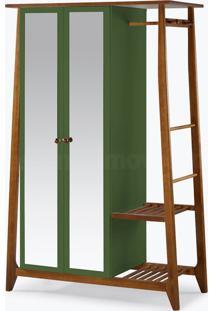 Armário/Roupeiro Multiuso Stoka - 2 Portas Verde Musgo Laca M284