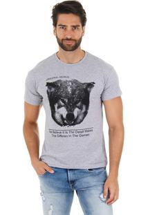 Camiseta Lobo Masculina Maidale - Grafite