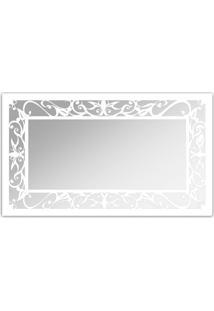 Espelho De Parede 12876B Branco 70X110 Art Shop