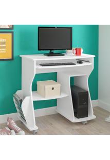 Mesa Para Computador 160 3 Nichos Branco - Artely