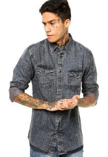 Camisa Pacific Blue Textura Azul