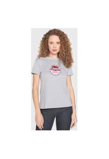 Camiseta Tommy Jeans Logo Cinza
