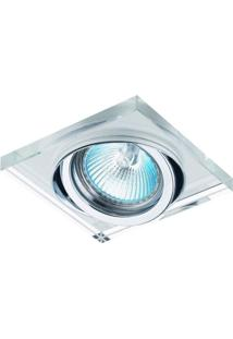 Spot Embutido Cristal Shine Bella Iluminação Caixa Com 3 Unidade Transparente E Cromado