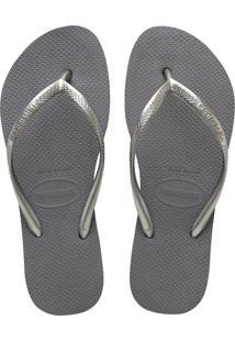 Sandálias Havaianas Slim Flatform Cinza