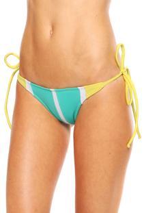 Calcinha Empress Brasil String Malibu Amarelo/Verde