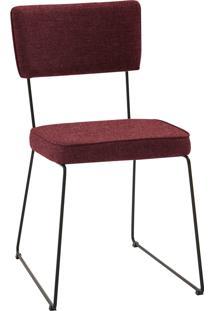 Cadeira Roma Aã§O Tecido Daf Marsala Vinho - Vinho - Dafiti