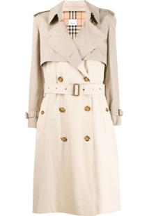 Burberry Trench Coat Bicolor - Neutro