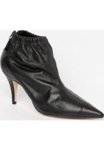 Ankle Boot Com Elã¡Stico - Preta- Salto: 8,5Cmmya Haas
