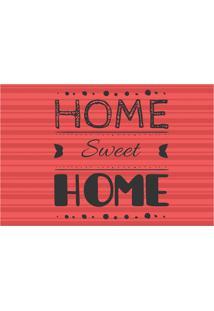 Placa Decorativa Home Sweet Home Vermelha E Preta