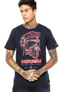 Camiseta Manga Curta Pretorian No Limits Azul-Marinho