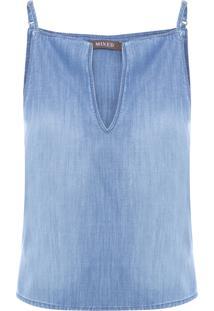 Regata Feminina Fresh Jeans Gaia - Azul