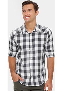 Camisa Social Forum Quadriculada Masculina - Masculino