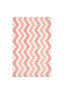 Tapete Moriah Chevron Pink - 1,95 X 3,00