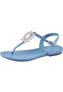 Sandália Flat La Femme Paloma Azul