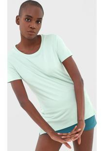 Camiseta Alto Giro Lisa Verde