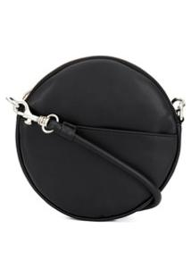 Mm6 Maison Margiela Circle Crossbody Bag - Preto