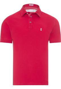 Polo Masculina Básica - Vermelho