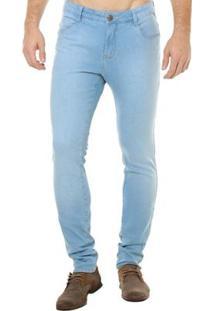 Calça Jeans Denuncia Skinny Masculina - Masculino-Azul