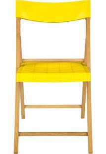 Cadeira Dobrável Sem Braço Em Madeira Tauarí 78,1X42,1X53,7Cm Amarela