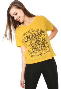 Camiseta Coca-Cola Jeans Florescer Amarela