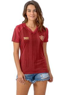 Camisa Braziline Km/H Motion Feminina Fluminense Vinho