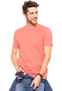 Camiseta Fiveblu Manga Curta Basic Colors Decote Careca Coral