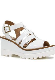 Sandália Plataforma Zariff Shoes Tratorado Branco