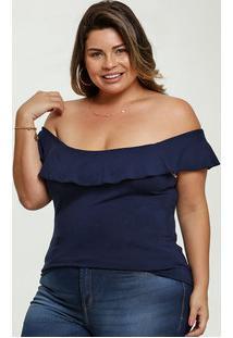 Blusa Feminina Ombro A Ombro Plus Size