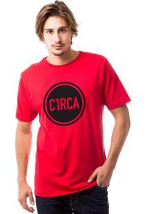 Camiseta C1Rca Circle Din Vermelho