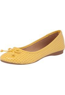 Sapatilha Dafiti Shoes Furinhos Amarelo