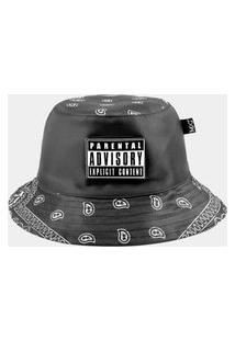 Chapéu Bucket Mxc Brasil Original Explicit Content Thug Life Preto