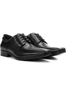 Sapato Social Couro Democrata Clássico Cronos Flex Cushion Masculino - Masculino-Preto