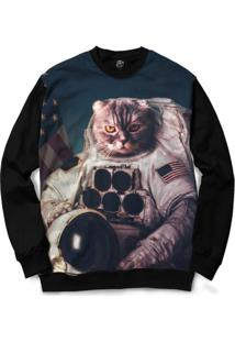 Blusa Bsc Cat Space Full Print - Masculino
