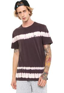 Camiseta Mcd Tie Dye Stripes Marrom/Rosa