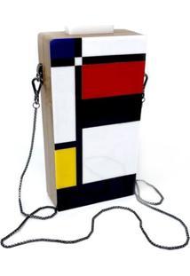 Bolsa Clutch Art Colors Design - Bege - Feminino - Dafiti