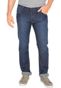 Calça Jeans Mr Kitsch Slim 9136 Bolsos Azul