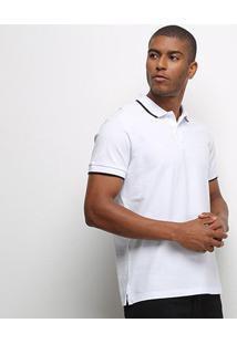 Camisa Polo Colcci Botões Masculina - Masculino-Branco