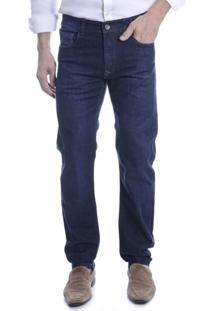 Calça Jeans Kanzo Reta Moovexx Avesso Color Índigo Azul