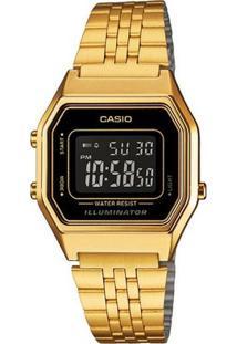 Relógio Casio Feminino Vintage La680Wga-1Bdf - Feminino-Dourado
