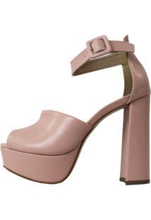Sandália Salto Alto Damannu Shoes Tiffany Rosa