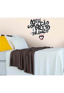 Corinthians - Adesivo De Parede Coração Grafite