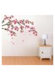 Adesivo De Parede Flor De Cerejeira Sakura - P 64X94Cm