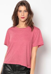 Camiseta Em Mescla Básica- Vermelho Escuro- Colccicolcci