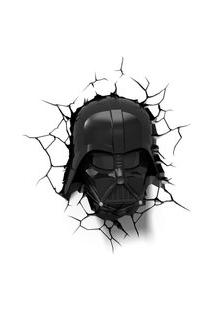 Luminária De Parede - 3D - Disney - Star Wars - Episódio Vii - Darth Vader - Beek Geeks