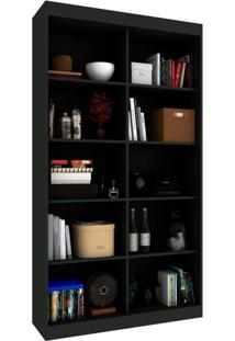 Estante Livreiro Office I Onix Preto 100 Cm
