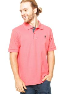 Camisa Polo Manga Curta Polo Club Logo Coral