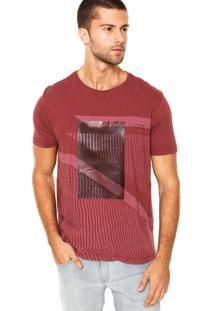 Camiseta Calvin Klein Estampa Corrosão Bordô